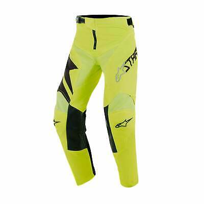 Alpinestars Youth Racer Factory Boys Pants Moto - Black Yellow Fluo All Sizes