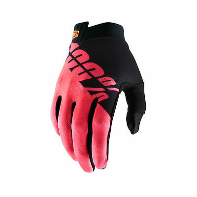 100 Percent Itrack Mens Gloves Mx Glove - Black Fluo Red All Sizes