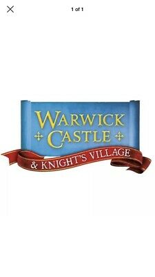 2 x WARWICK CASTLE TICKETS FOR FRIDAY 6 September 2019 - FREE POSTAGE!!
