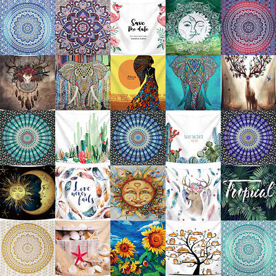 USA Hippie Psychedlic Tapestry Wall Hanging Mandala Bedspread Home Room Decor