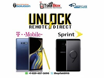INSTANT! Samsung Galaxy Note 9 SPRINT Remote Unlock Service