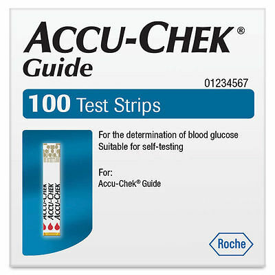 Accu Chek Guide Test Strips 100 Expiry AUGUST 2020