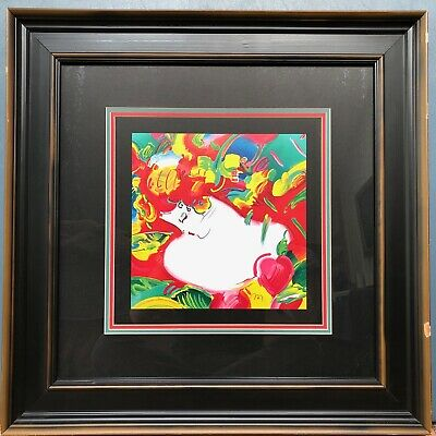 PETER MAX Limited Lithograph Numbered 97/300 Hand Signed - Frame Damaged