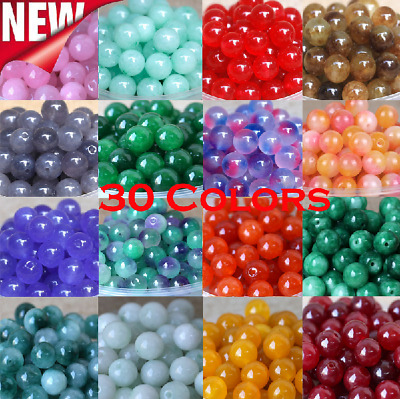 10mm DIY Natural Gemstone Round Loose Beads Jewelry Making Wholesale 30 Colors