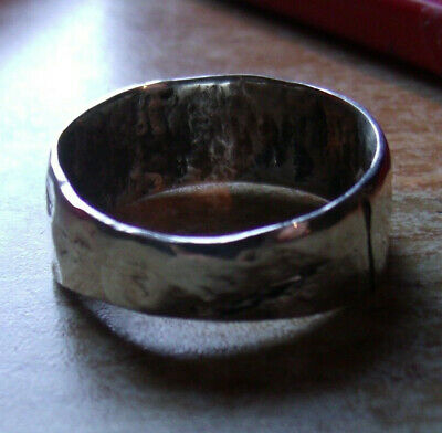 Mens Custom Silver Viking Cuff Ring Size 11. Made in the style of the Ancients