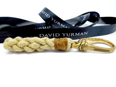 David Yurman Maritime Rope Keychain Key Ring in Bronze