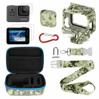 Camera Accessories Kits,Portable Action Camera Accessory Kit with Camouflag V3R8