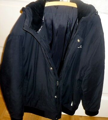 purchase cheap 11b81 9dd82 SCHWARZE WINTERJACKE WINTERBLOUSON Herren von Karl Kani Gr. XL
