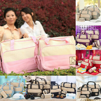 5pcs Baby Nappy Changing Bag Set Diaper Bags Shoulder Handbag Mommy Bag Newborn3