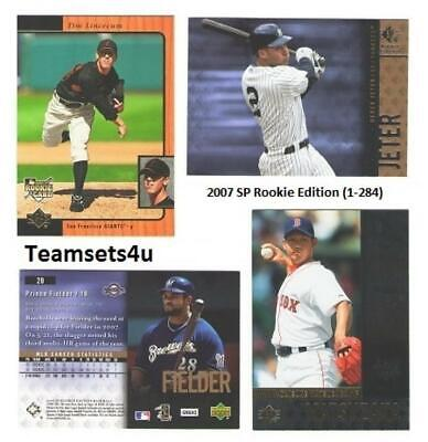 2007 SP Rookie Edition (1-284) Baseball Set ** Pick your Team ** See Checklist