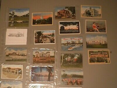 Vintage Postcards 22 Card Lot Florida USA Great selection 1930's-60's. All Over.