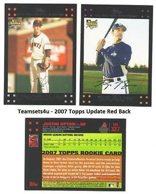 2007 Topps Update Red Backs Baseball Set ** Pick Your Team ** See Checklist