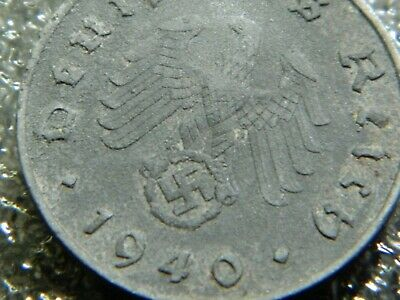 Rare Old Antique 1940 WW2 WWII Military Nazi Germany War Eagle Swastika Coin