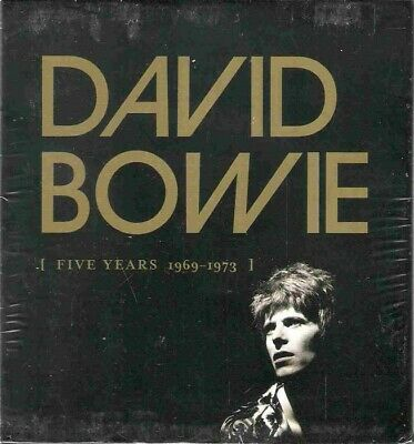"""Brand new and sealed David Bowie """"Five Years 1969-1973"""" 12 CD Box Set Collection"""