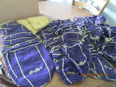 Lot of 59 CROWN ROYAL BAGS (2 Gold).
