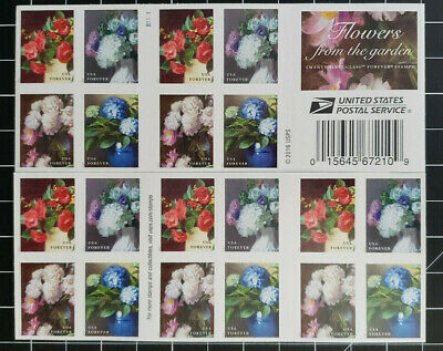 USPS Forever Postage Stamps 'Flowers from the Garden' Booklet of 20