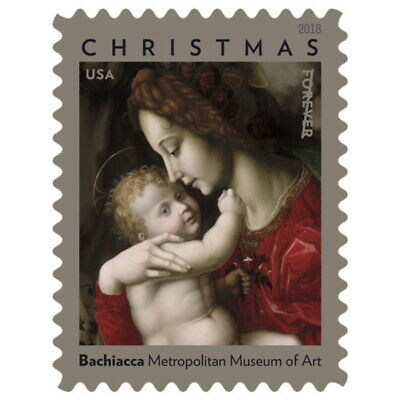 USPS Forever Postage Stamps 'Madonna and Child by Bachiacca' Booklet of 20