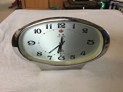 Vintage Five Rams Alarm Clock China Mechanical Wind Up