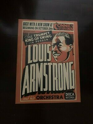 Louis Armstrong Jazz  Print Music 18X24  New Poster