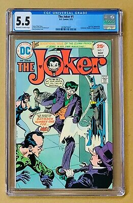 The Joker #1 CGC 5.5 Appearance of TWO-FACE Cover: Riddler CATWOMAN Penguin 1975