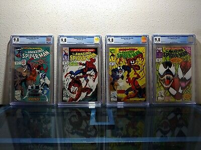 The Amazing Spider-Man #344 #361 #362 #363 CGC 9.8 NM/MT 1st Carnage Set