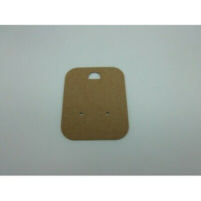 50 Earring Brown Recycled Earring Cards 48 mm x 60 mm