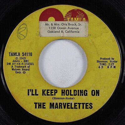 Northern Soul 45 MARVELETTES I'll Keep Holding On TAMLA HEAR