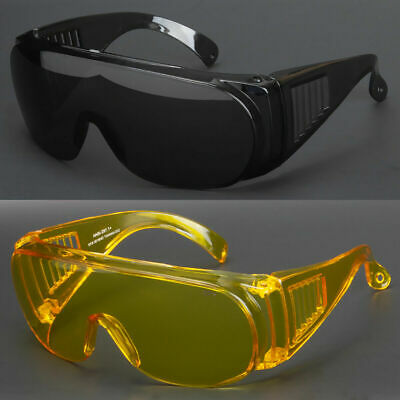 New Extra Large Fit Over Most Rx Glasses Sunglasses Safety Super Dark Lens Usa