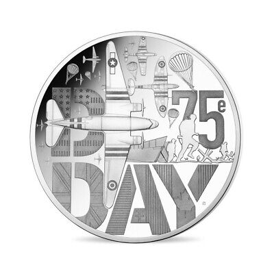 Francia 2019 Proof Silver – 75 Years Of The D Day