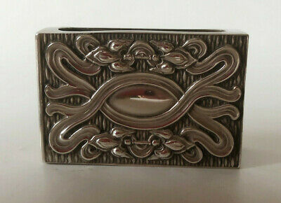 Silver 1903 embossed match box case by William Harrison W