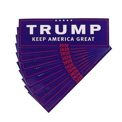 10 PCS Set Donald Trump Keep America Great 2020 President Car Bumper Sticker KAG