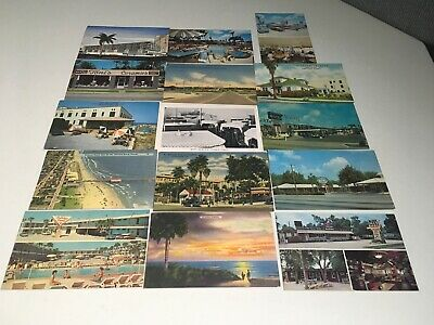 Vintage Postcards - Lot Of 15 - Motels, Restaurants, Misc. Florida - 50'S & 60'S