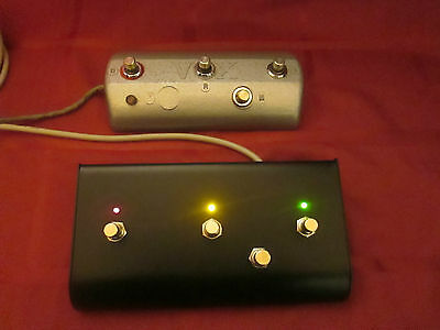 Vox V1141 Super Beatle, Beatle 4 button Foot Switch Replacement. W/ Lights