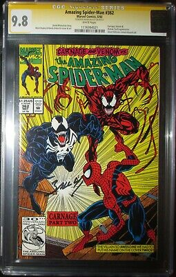 Amazing Spider-Man 362 CGC SS 9.8 Near Mint/MT  2nd Carnage  Venom appearance