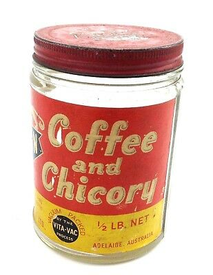 Vintage Lion Brand Coffee & Chicory Jar