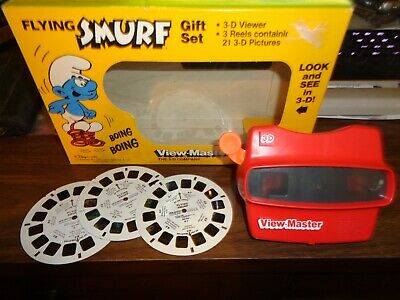Viewmaster Flying Smurf Gift Gift Set VIEW-MASTER 3D 1982 VINTAGE