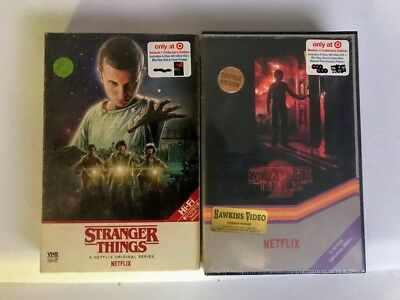 New Stranger Things Season 1 + 2 4K Ultra Hd Bluray Target Exclusive Vhs Cases