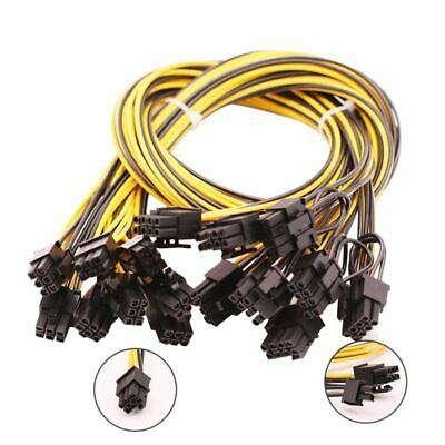 2X(8Pcs 6 Broches Pcie Express Pcie 8(6+2)Pin(25 Pouces) New18Awg 6 Broches T1H6
