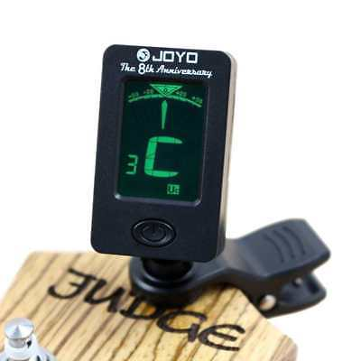 LCD Clip-on Electronic Digital Chromatic Tuner for Bass, Guitar, Ukulele, Violin