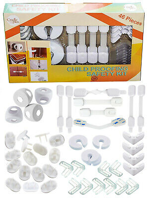 Child Proofing 46 Pack Baby Proof Child Safety Kit Locks Covers Accident Proof