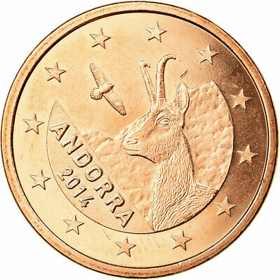 [#731392] Andorra, 5 Euro Cent, 2014, FDC, Copper Plated Steel