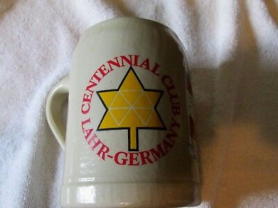 Vintage Centennial Club .05L Beer Stein Lahr Germany  Canadian Military