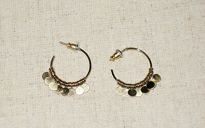 3a8f284a90057 STELLA & DOT Hammered Wire Small Hoops - $31.00 | PicClick