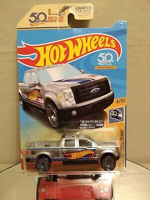 Hot Wheels Mainline 2018 50th Race Team 4/10 2009 Ford F-150 ZAMAC