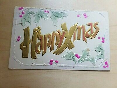 Vintage Collectible Postcard early 1900s Happy Christmas