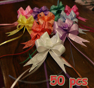 Large 30mm Pull Bows Weddings Party Floristry Wrap Ribbon 10 Colours Fathers