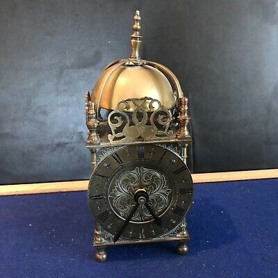 Lantern brass cased mantle clock