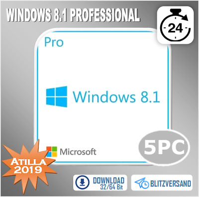 MS Windows 8.1 Professional - Win 8.1 Pro 1/2/3/4/5 PC - OEM - Direkt per E-Mail