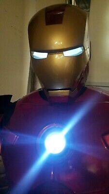 4233de1e378c Marvel IRON MAN SUPREME EDITION COSPLAY COSTUME MK.3 Replica Helmet Light Up