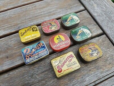 """Lot 8 Vintage Needles Ad Box """"Songster, Masters Voice, Marschall, Embassy"""""""